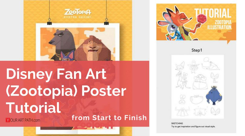 Disney Drawing Tutorial – (Zootopia Fan Art) Poster from Start to Finish by Cynthia Xing
