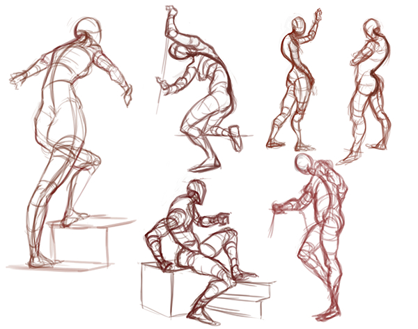 Gesture Drawing Example