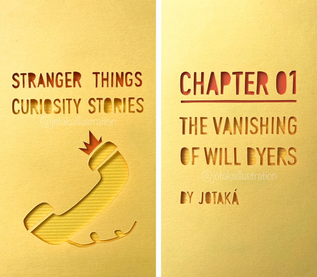 Stranger Things Fan Art Quotes Papercraft by Jotaká.