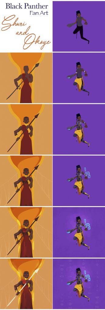 Making Black Panther Fan Art - Digital Painting Tutorial by Moutaz K. Maudy