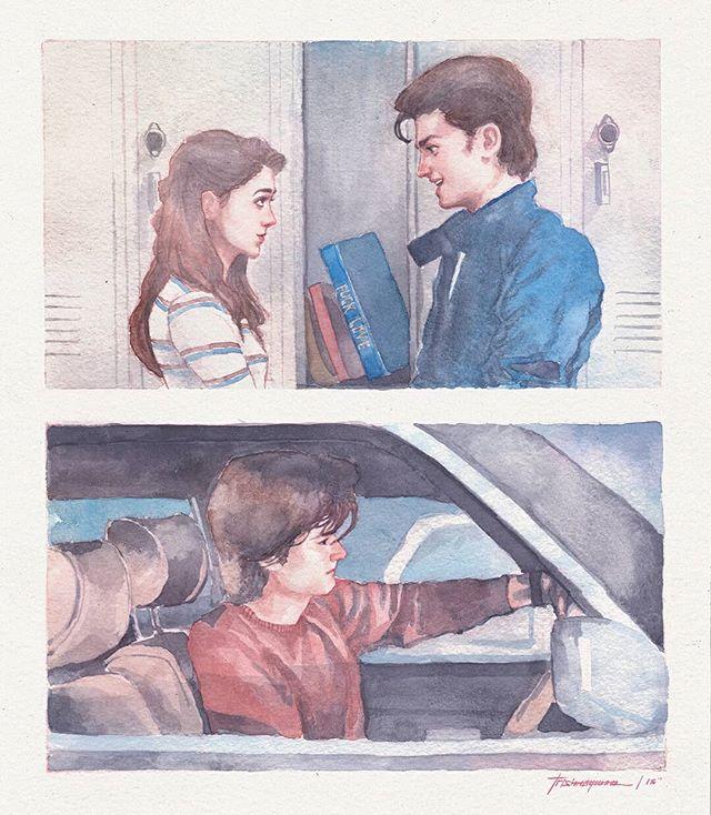 Stranger Things Fan Art of Steve and Nancy by Trishna