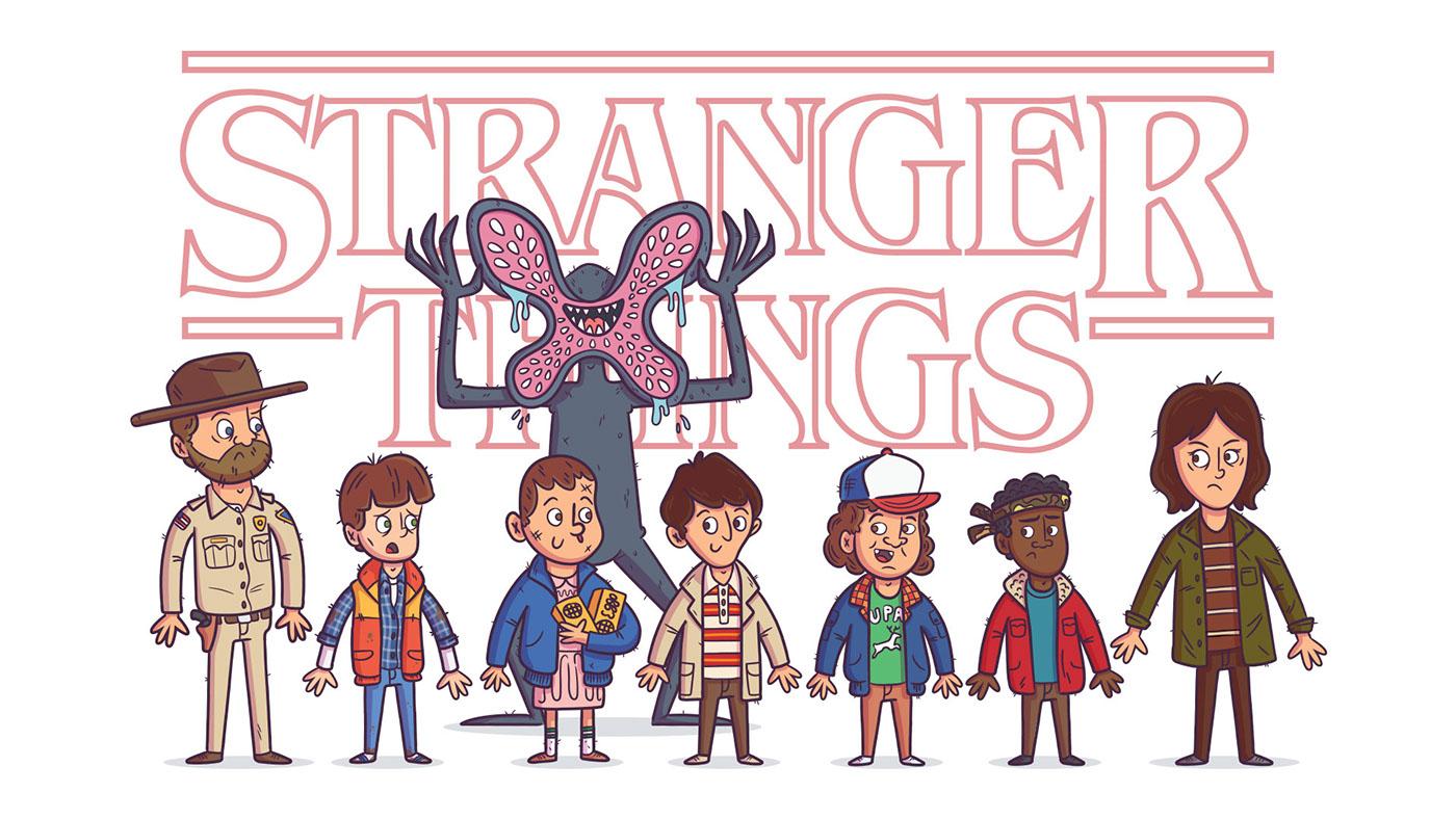 Stranger Things Fan Art by Rocky Roark