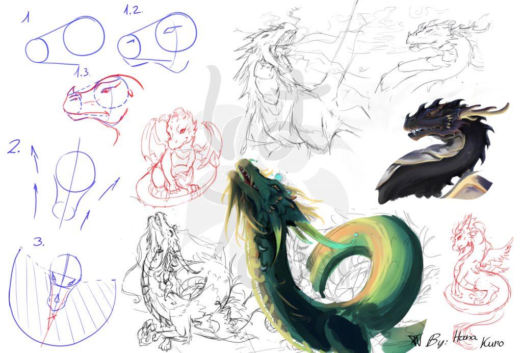 Sky Dragon Sketches