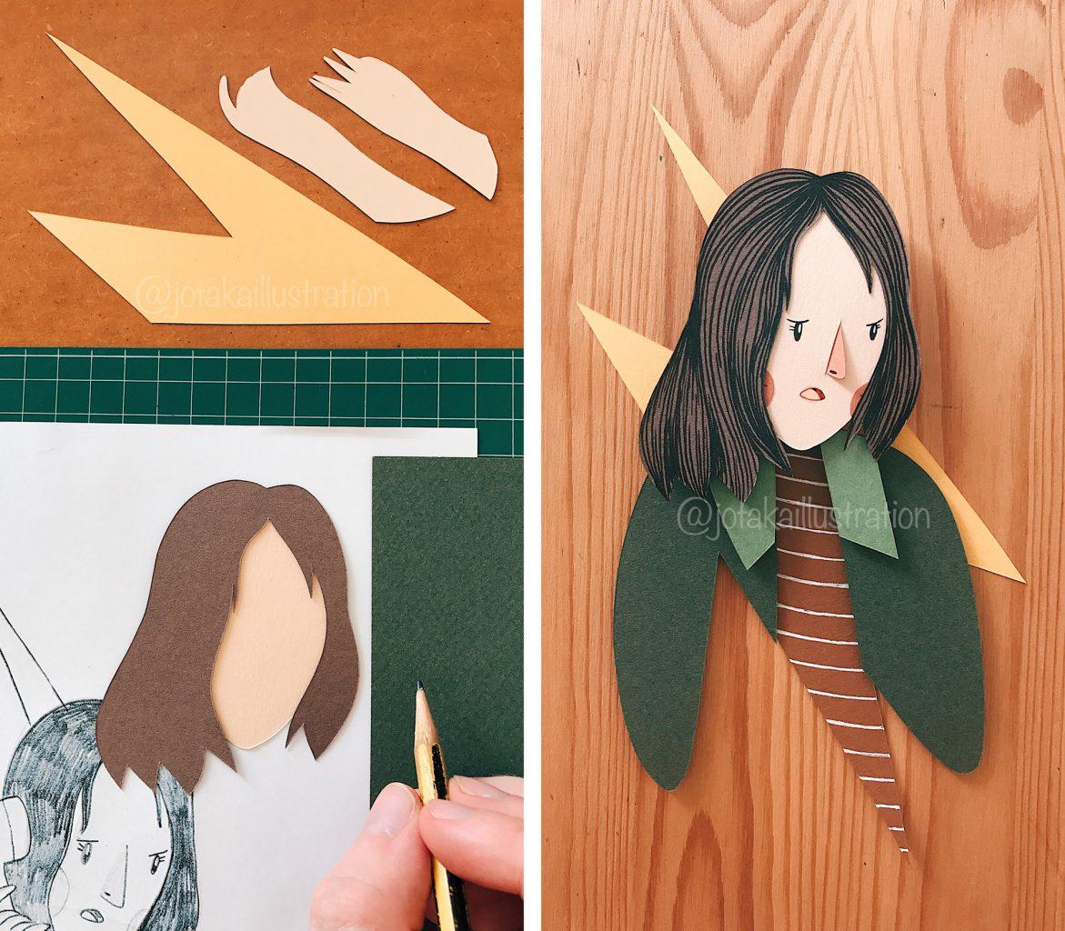 Stranger Things Fan Art of Joyce Papercraft by Jotaká.