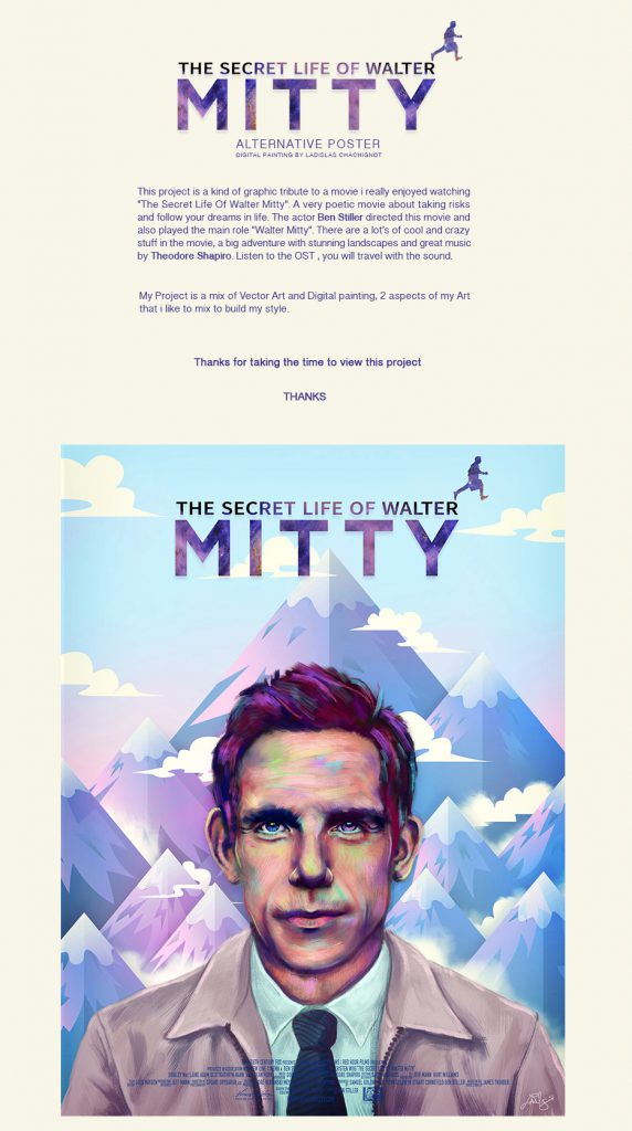 Interview With An Artist - Ladislas Chachignot. And His Digital Movie Poster Artwork - The Secret Life Of Walter Mitty