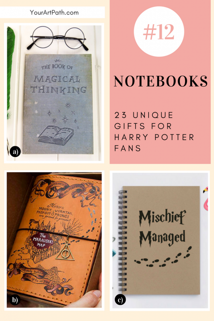 23 Best Gifts For Harry Potter Lovers. They are so magical, that I want them for myself! Featuring - Harry Potter Notebooks!
