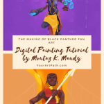 Making Black Panther Fan Art - Digital Painting Tutorial by Moutaz K. Maudy