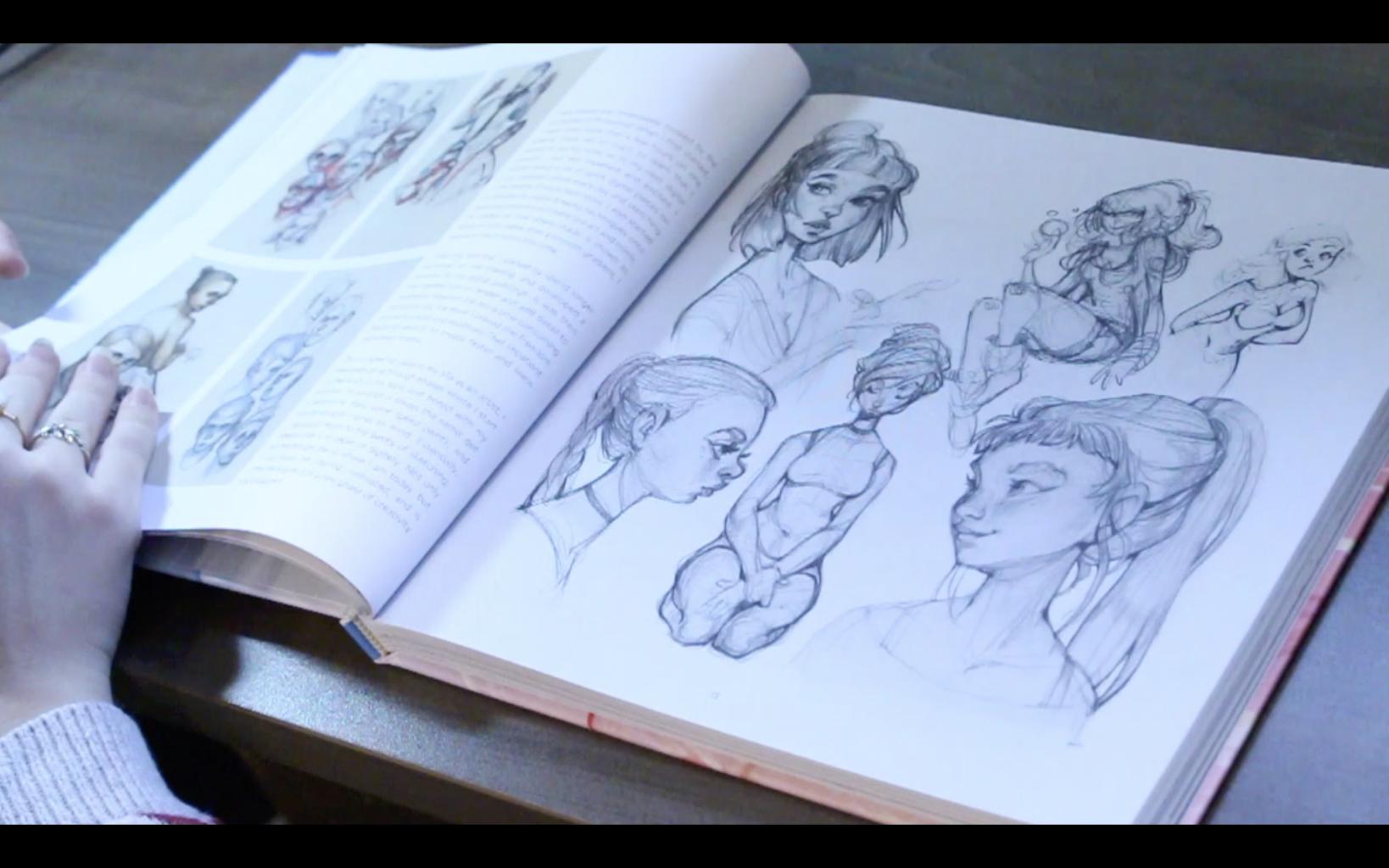 The Sketchbook Of Loish: Art In Progress (+Video Unboxing And Flip Through) Inside My Sketchbook