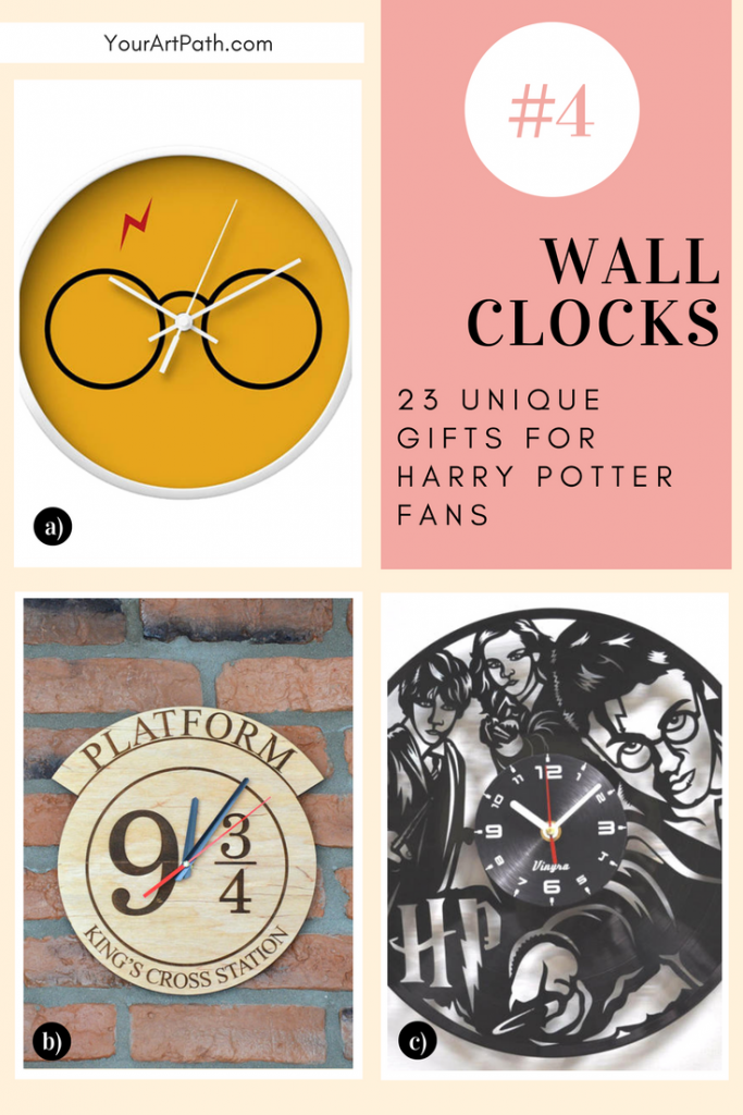 23 Best Gifts For Harry Potter Lovers. They are so magical, that I want them for myself! Featuring - Harry Potter Wall Clocks!