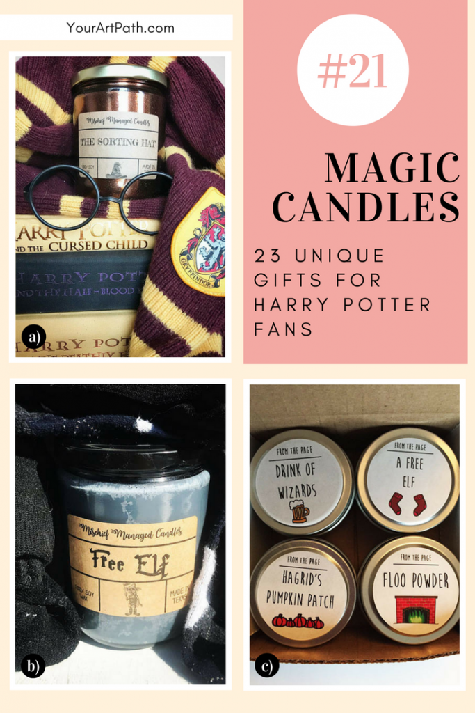 23 Best Gifts For Harry Potter Lovers. They are so magical, that I want them for myself! Featuring - Harry Potter Magic Candles!