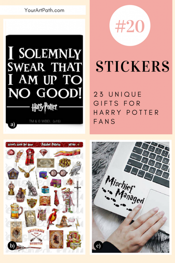 23 Best Gifts For Harry Potter Lovers. They are so magical, that I want them for myself! Featuring - Harry Potter Stickers!
