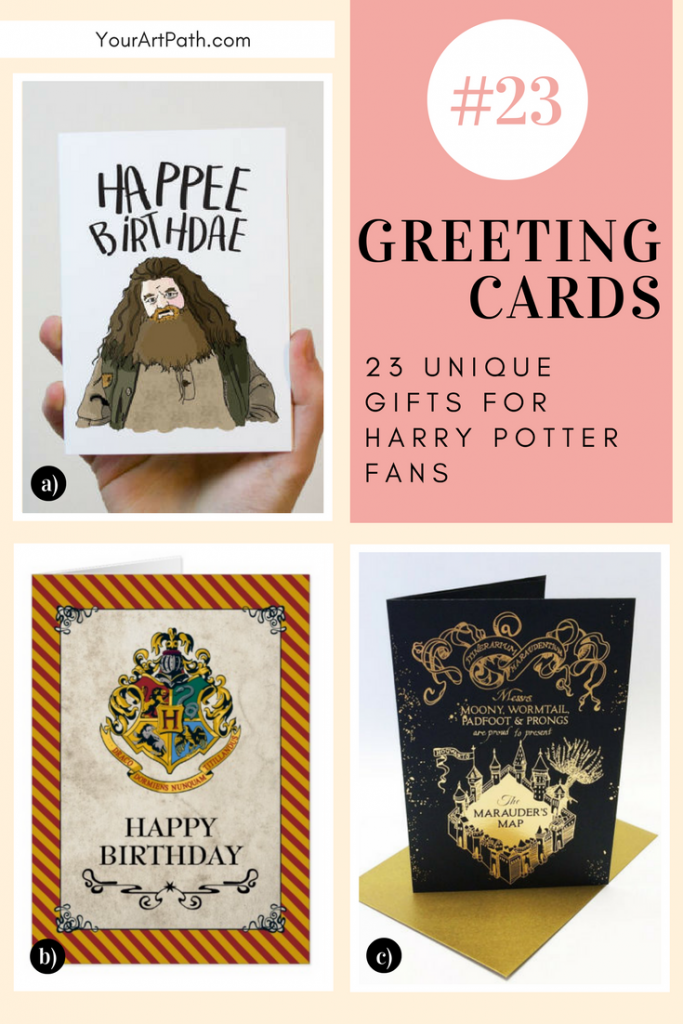 23 Best Gifts For Harry Potter Lovers. They are so magical, that I want them for myself! Featuring - Harry Potter Greeting Cards! Caution: Be careful what you wish for as if read properly - will come true!