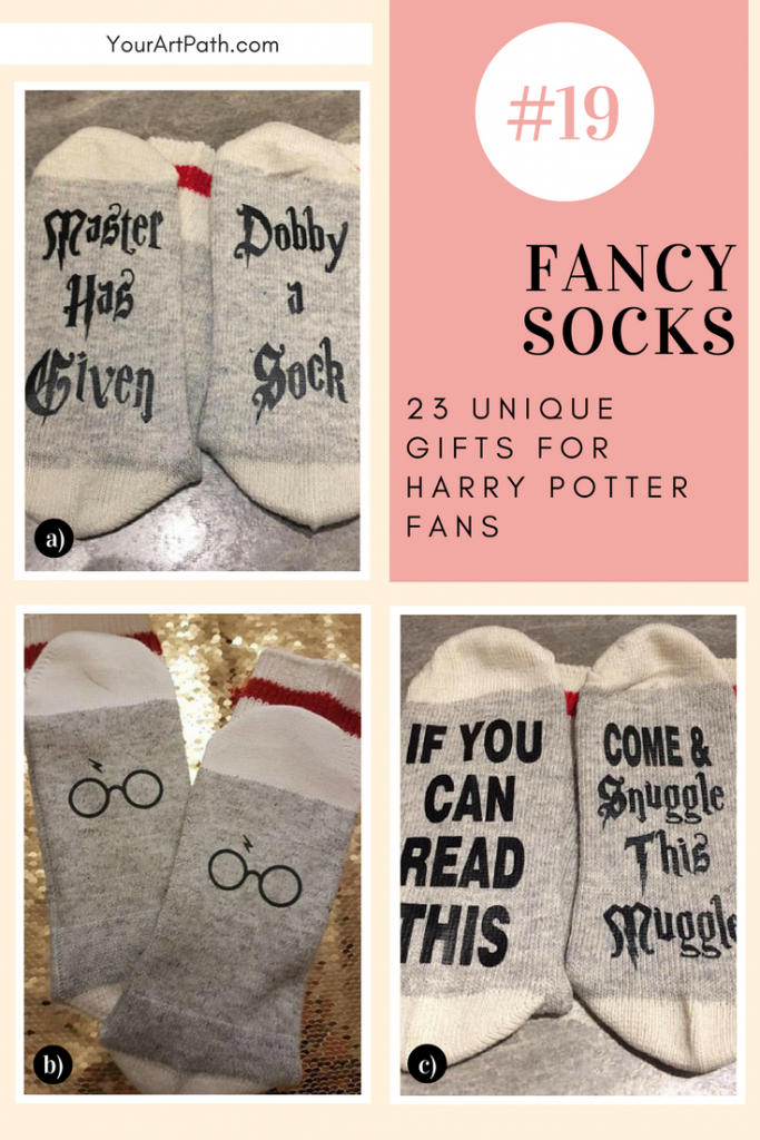 23 Best Gifts For Harry Potter Lovers. They are so magical, that I want them for myself! Featuring - Harry Potter Fancy Socks!