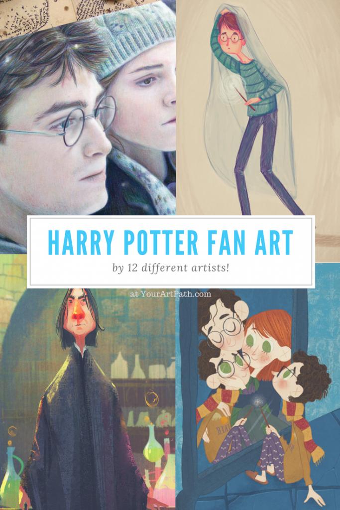 Harry Potter Fan Art Using 12 Magical Styles