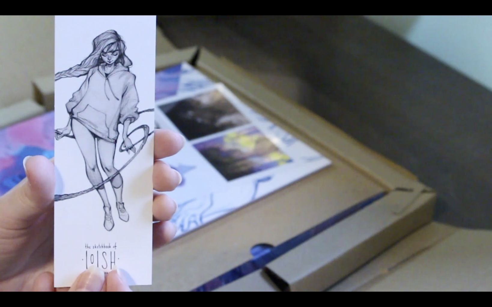 The Sketchbook Of Loish: Art In Progress (+Video Unboxing And Flip Through) Freebies! Bookmark