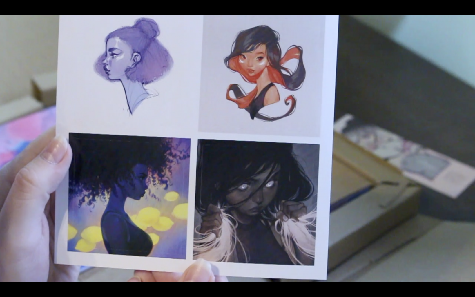 The Sketchbook Of Loish: Art In Progress (+Video Unboxing And Flip Through) Freebies! Stickers