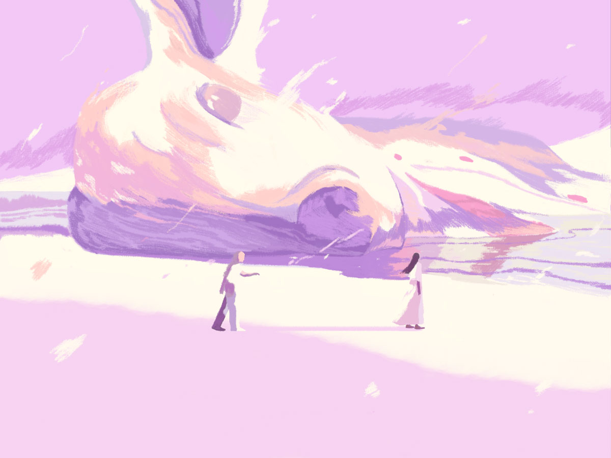 Dead Deer Illustration by Xiao