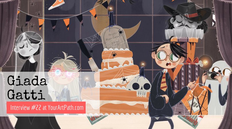 Giada Gatti | Illustrator from Italy who is still waiting for her Hogwarts Letter (Interview #22)