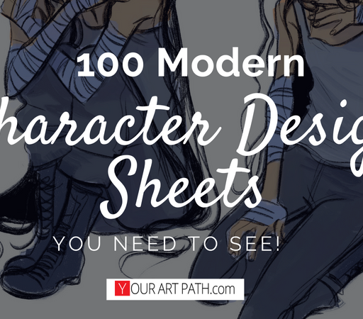 100 Modern Character Design Sheets You Need To See!
