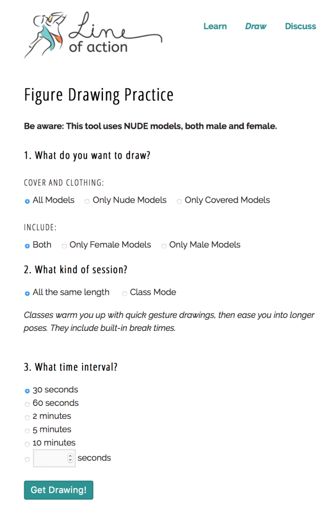 Free Figure Drawing Pose References Online
