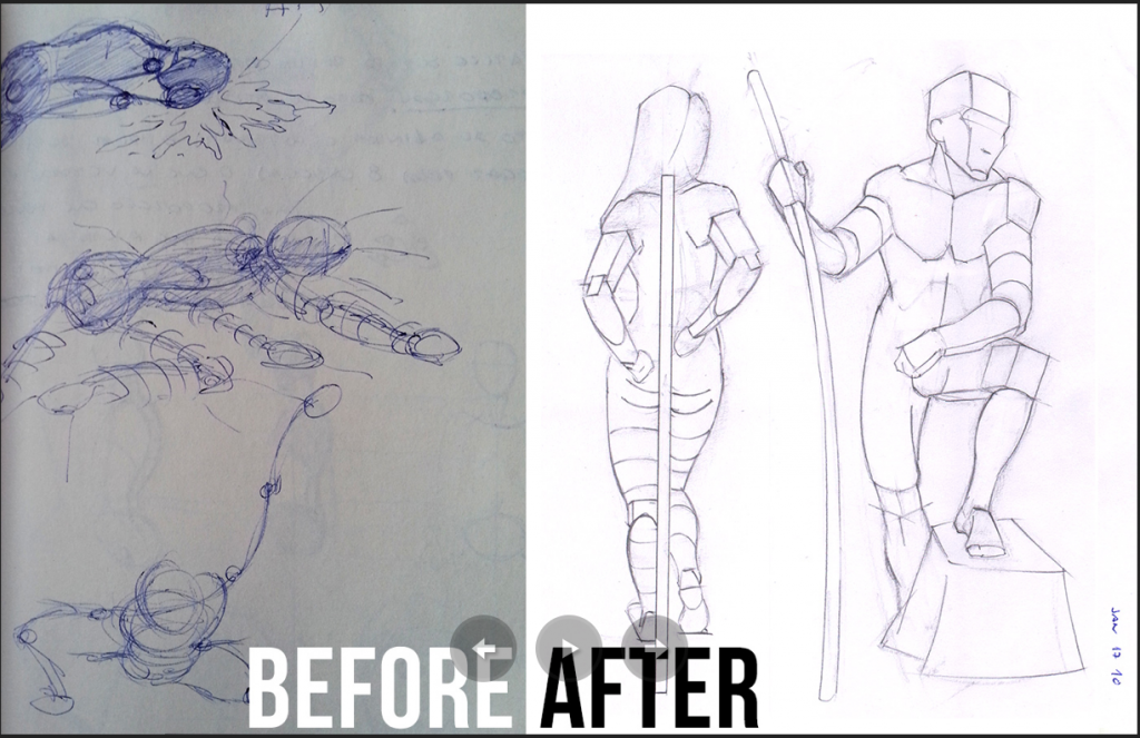 Figure Drawing Tutorial | Before And After Art Progress
