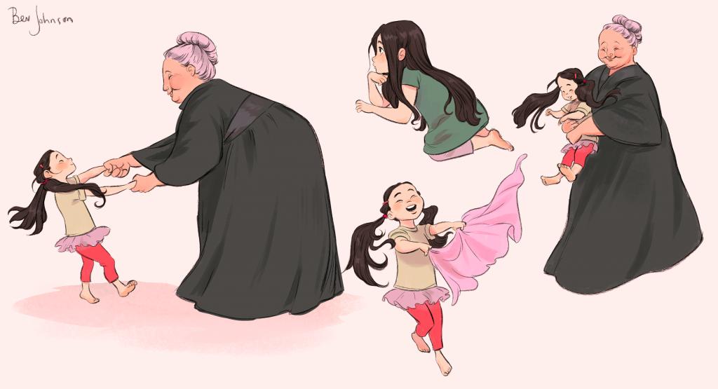 Grandma and Granddaughter   Character Design Sheet   Character Design Inspiration   Character Model Sheet   Character Inspiration