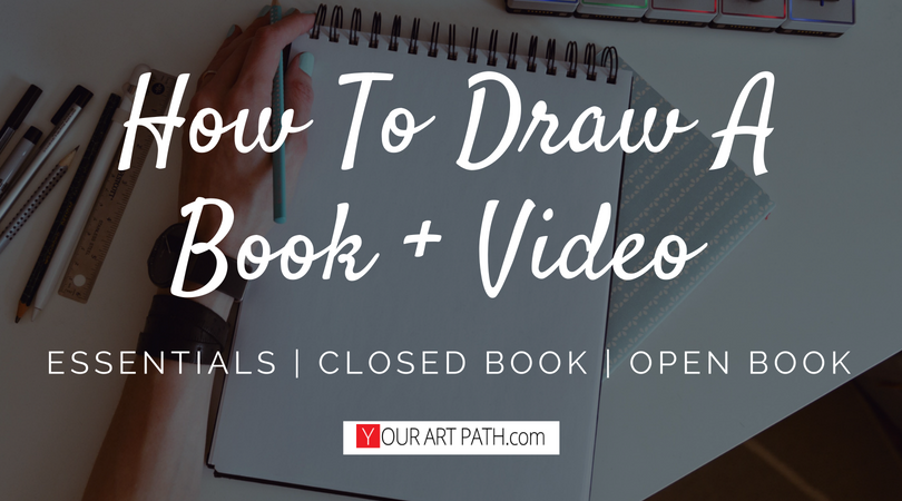 How To Draw A Book Open And Closed Step By Step