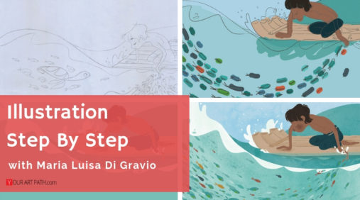 illustration step by step tutorials | digital art step by step tutorial