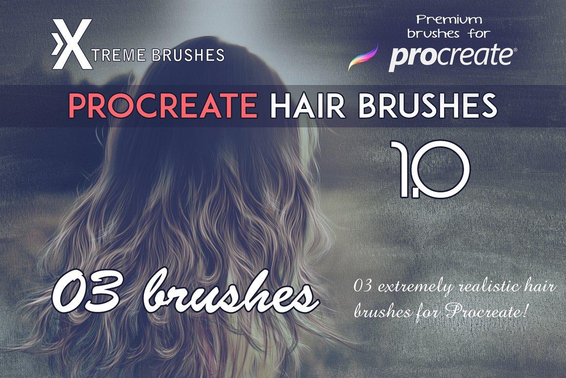procreate hair brushes free | procreate brushes free iPad
