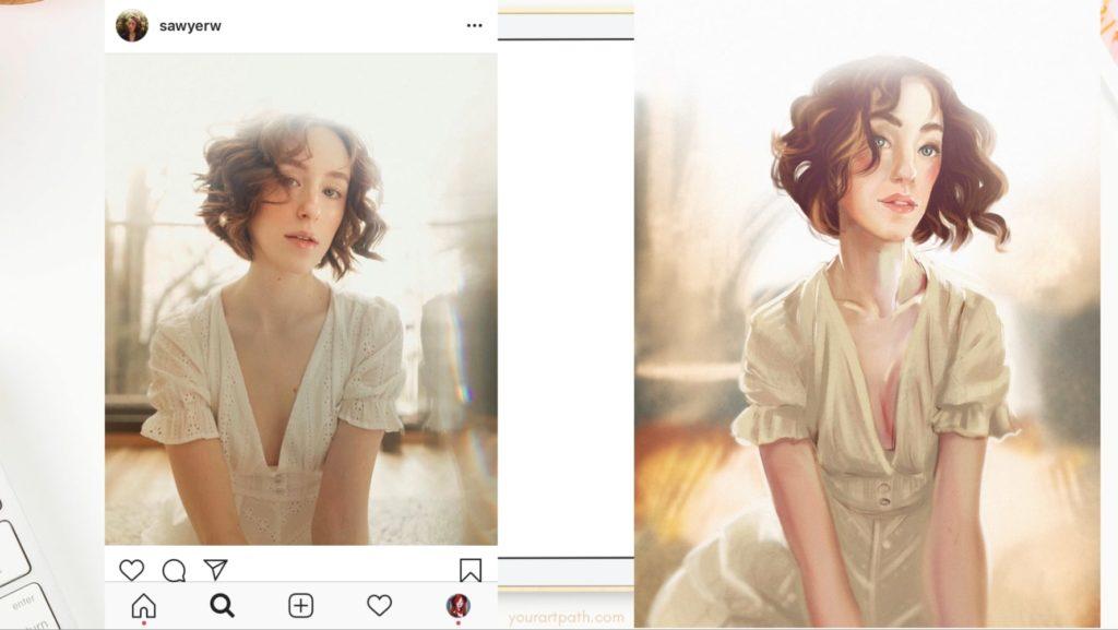 Digital Portrait Painting Tutorial In Procreate App Step By Step