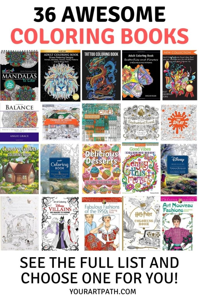 36 Best Adult Coloring Books On Amazon In 2020 – YourArtPath
